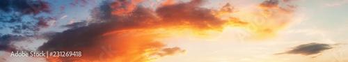 Panoramic sunset sky cloudscape - 231269418
