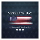 veterans day, November 11, honoring all who served, posters, modern brush design vector illustration - 231269642