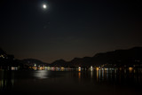 Full Moon after Lunar Eclipse over Como, Italy - 231276276