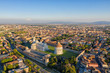 Leinwanddruck Bild - Leaning Tower of Pisa and Cathedral - Aerial View