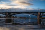 Theodor-Heuss-Brücke with some clouds
