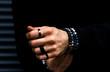 Men's bracelet on hand