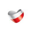 Poland flag, vector illustration on a white background - 231301680