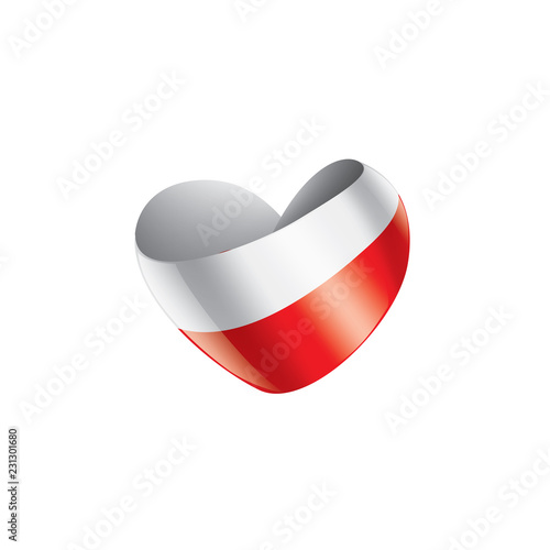 Poland flag, vector illustration on a white background © butenkow