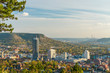 Wunderschöne Aussicht auf Jena vom Landgrafenblick bei Sonnenuntergang