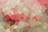 abstract mosaic background pattern with red and green tones - 231312677