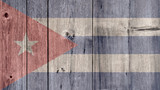 Cuba Politics News Concept: Cuban Flag Wooden Fence