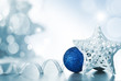 Christmas Holiday Background decorated with baubles, light garland. Christmas and New Year Decoration - 231326246