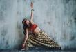 Young beautiful yogi woman