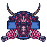 Illustration of Buffalo Badge