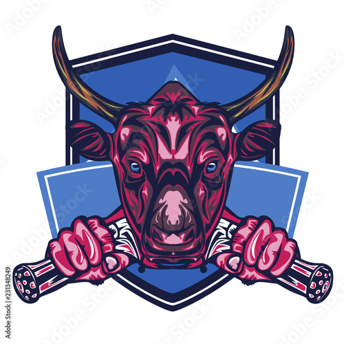 Illustration of Buffalo Badge