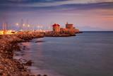 Rhodes town sunrise landscape - 231349011