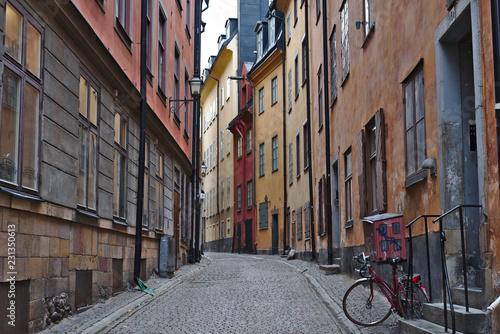Gamla stan or old street of stockholm - 231350613