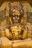 the golden buddha of Maha Myat Muni Pagoda temple Mandalay city Myanmar (Burma) - 231350803