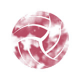 Volleyball pink pattern symbol