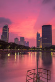 Jakarta business center and office buildings under the beautiful evening sky, Indonesia - 231359887