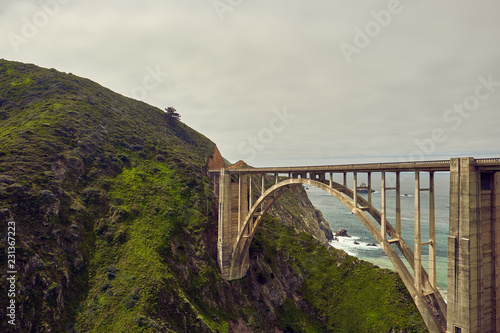 Bixby Creek Bridge on Highway 1, California - 231367223