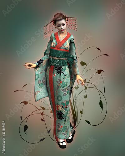 Geisha Doll, 3d CG © Atelier Sommerland