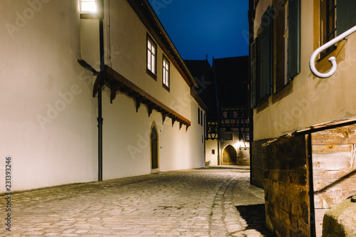 old street in Bamberg at night - 231393246