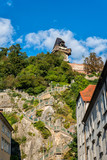 Austria. Graz. Stairs leading to the highest point of the city Staircase leading hill Schlossber - 231394015