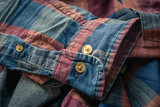 details of red and blue checkered shirt - 231397667