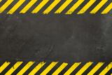 Concrete background with grunge hazard sign - 231397864