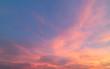 Beautiful pastel cloudy sunset