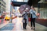 Two women pointing and looking while on vacation in New York - 231408079