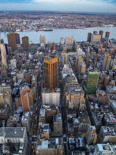 Foto Murales Midtown and Kips Bay, Manhattan View from the Empire State Building , New York City, New York, USA
