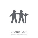 grand tour icon. Trendy grand tour logo concept on white background from Architecture and Travel collection