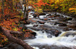 Water falls in rural Quebec in autumn time