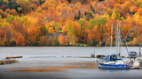 Riviere Saint Maurice in autumn time near Grandes Piles - 231431211