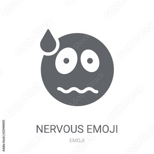 Nervous emoji icon  Trendy Nervous emoji logo concept on white