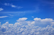 perfect blue sky and cloudscape from aerial view - 231442864