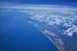 aerial view of blue sky and cloud and sea - 231442871