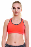 Studio shot of young beautiful teenage girl ready for gym - 231449453