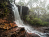 Fog and mist at Weeping Rock Wentworth Falls
