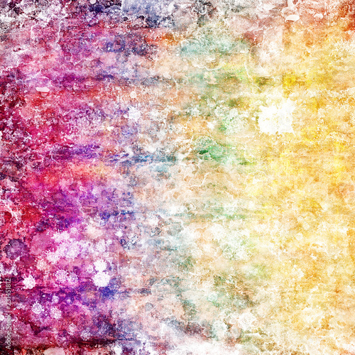 abstract grunge background in rainbow colors - 231451812