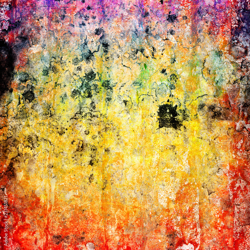 abstract grunge background in rainbow colors - 231451821