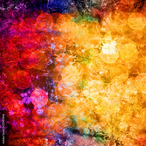 abstract grunge background in rainbow colors - 231451846
