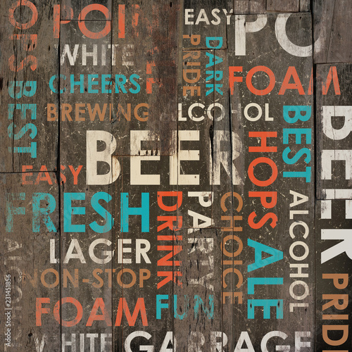 Beer Drink Types Menu - 231451856