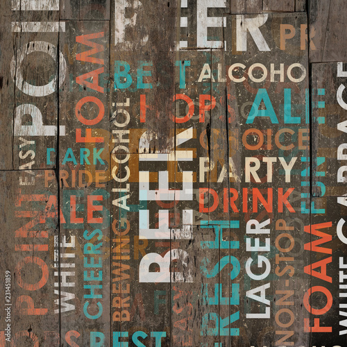 Beer Drink Types Menu - 231451859