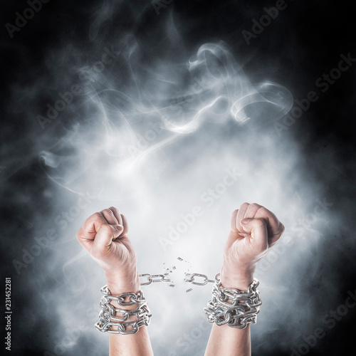 Two hands in chains - 231452281
