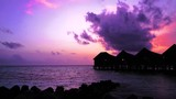 Colorful sunset over ocean on Maldives - 231453036