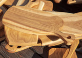 Wooden kitchen boards are sold on the market