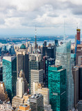 MANHATTAN, NEW YORK CITY. Manhattan skyline and skyscrapers aerial view. New York City, USA. - 231456045