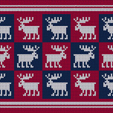 A knitted sweater with Reindeer. Seamless vector background. Christmas pattern. Can be used for wallpaper, textile, invitation card, wrapping, web page background. - 231456648