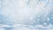 Leinwanddruck Bild - winterliche kulisse