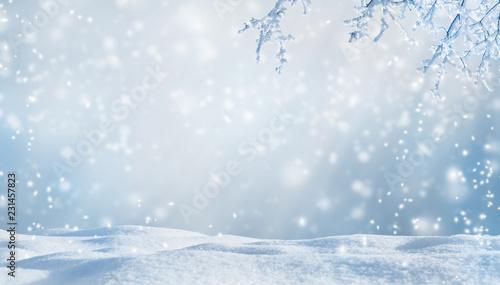 Leinwanddruck Bild winterliche kulisse