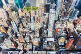 MANHATTAN, NEW YORK CITY. Manhattan skyline and skyscrapers aerial view. New York City, USA. - 231459861